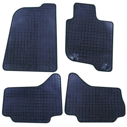 Polco four piece rubber tailored to fit van mats for Mitsubishi L200 2006-2015