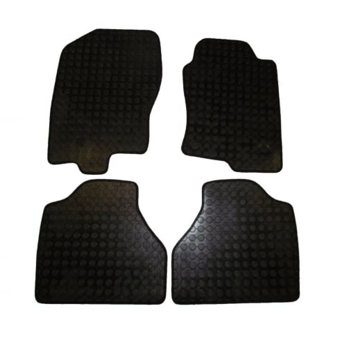four piece rubber tailored to fit van mats for Nissan Navara 2010>
