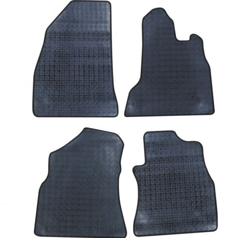 four piece rubber tailored to fit van mats for Peugeot Partner Van 2008>