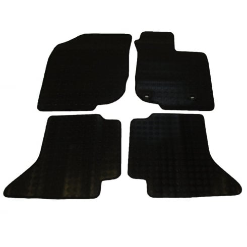 four piece rubber tailored to fit van mats for Toyota Hi-Lux double cab 2011>