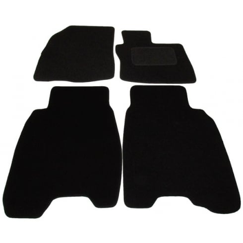 Polco Honda Civic black car mats 2006-2008 with round clips