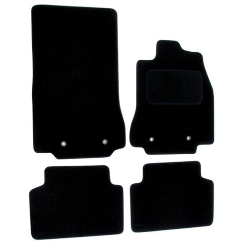 Jaguar XF black car mats 2008-2014 with round clips
