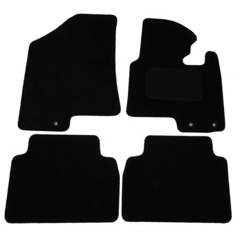 Kia Sportage black car mats 2010> with round clips