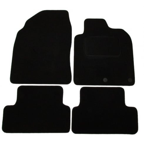 Nissan Qashqai black car mats 2007-2014 with round clips