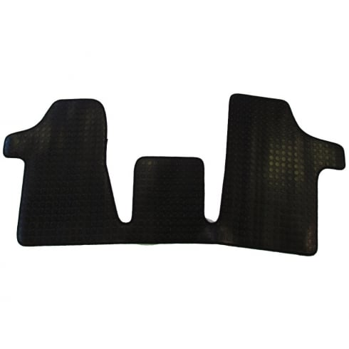 one piece front rubber tailored to fit van mat for Mercedes Vito 2003>