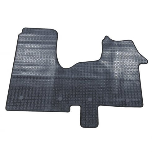 one piece front rubber tailored to fit van mats for Renault Trafic 2014>