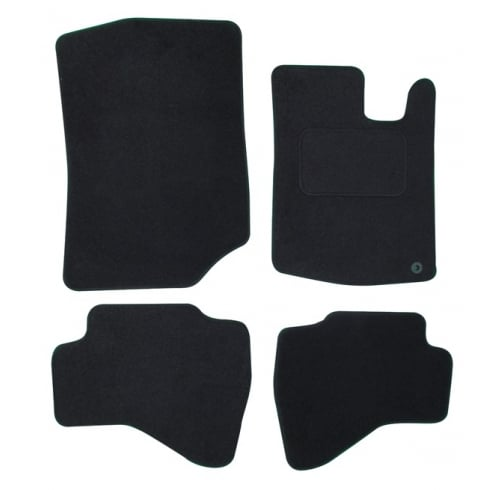 Peugeot 107 black car mats with round clips