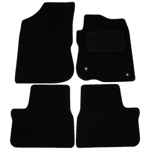 Peugeot 208 black car mats 2012> with round clips