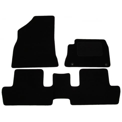 Polco Peugeot 3008 black car mats with round clips