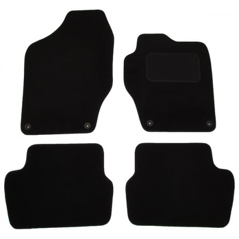 Peugeot 308 black car mats 2008-2013 with round clips