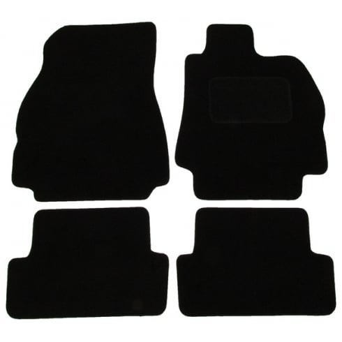 Renault Megane black car mats 2003-2008 with round clips