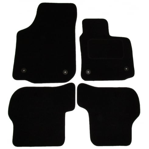 Seat Leon black car mats 2009-2013 with round clips