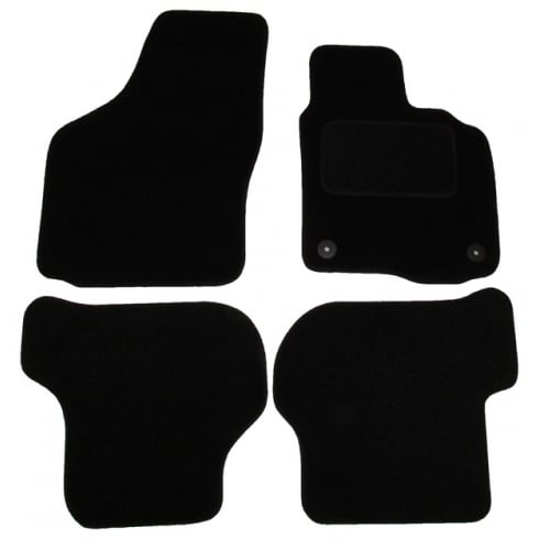 Skoda Octavia black car mats 2008-2013 with round clips