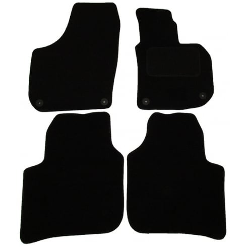Polco Skoda Superb black car mats 2008-2015 with round clips