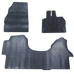 three piece rubber tailored to fit van mats for VW Crafter & Mercedes Sprinter 2006>