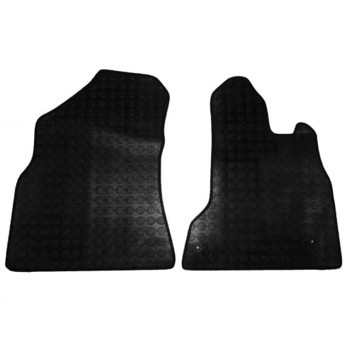 two piece front rubber tailored to fit van mats for Citroen Berlingo Van 2008>