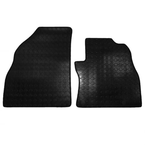 Polco two piece front rubber tailored to fit van mats for Peugeot Bipper 2008>