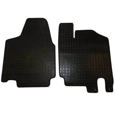 two piece front rubber tailored to fit van mats for Peugeot Expert 2007 to 2015