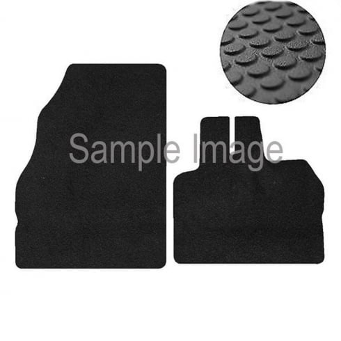 two piece front rubber tailored to fit van mats for Renault Kangoo Van 2009>