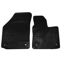 two piece front rubber tailored to fit van mats for VW Caddy 2004>
