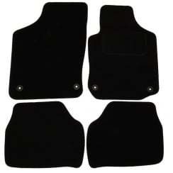 Vauxhall Corsa C black car mats 2001-2007 with round clips
