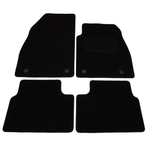 Vauxhall Insignia black car mats 2008-2013 with round clips