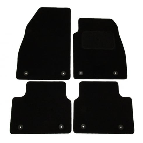 Vauxhall Insignia black car mats 2013> with round clips