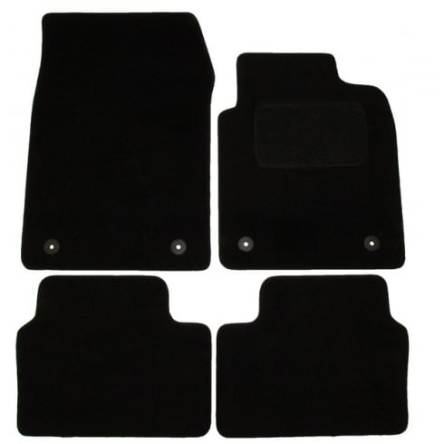 Polco Vauxhall Vectra black car mats 2003-2008 with round clips
