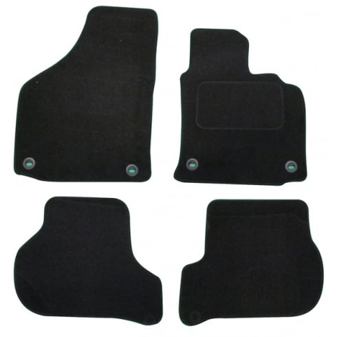 Polco Volkswagen Golf 5 & TDI black car mats 2004-2007 with oval clips