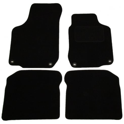 Volkswagen Golf MK4 & Beetle black car mats 1999-2005 with round clips