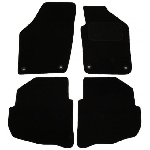 Volkswagen Polo black car mats 2004-2009 with round clips