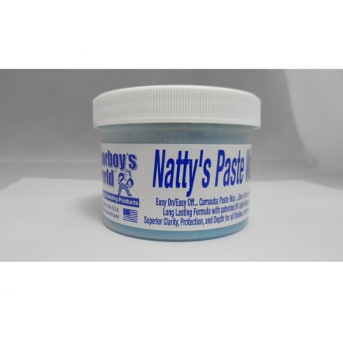 Natty's paste wax in blue for dark cars