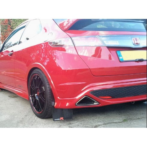 Rally style mudflaps for Honda Civic Type R FN2 2007 onwards