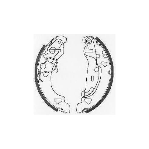QH BS1115 Rear brake shoes - Fiesta 99>02, Ford Ka 96>09
