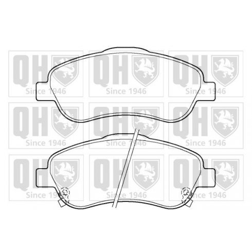 Quinton Hazell front brake pad set for Toyota Avensis 03-2008