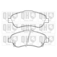 Quinton Hazell front brake pad set for Toyota Corolla 04-2009