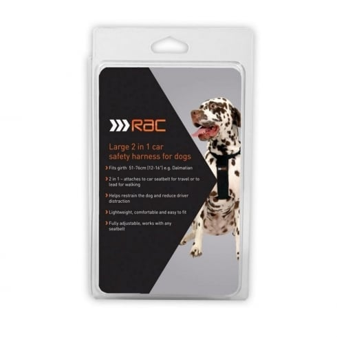 RAC pet / dog safety harness - large