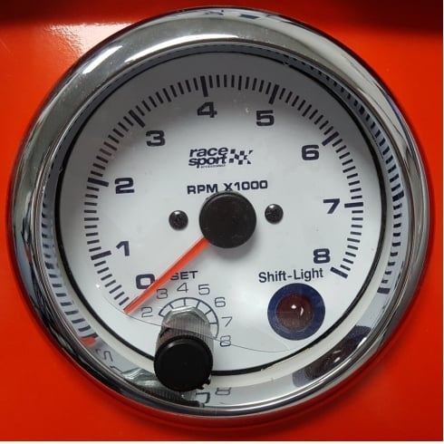 Race Sport racing gauge - Tachometer with shift light