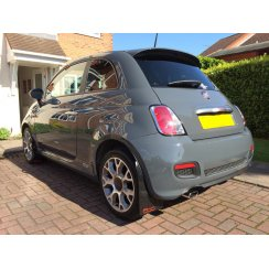 Rally style car mudflaps for Fiat 500 2007>