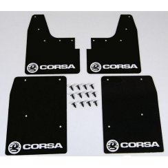 Rally style mudflaps for Vauxhall Corsa C 2000-2007