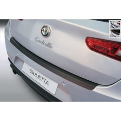 Alfa Giulietta rear guard bumper protector in black finish 2010>