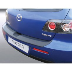 Mazda 3/Axela rear guard bumper protector 5 door 06/06 > 12/08