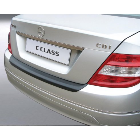 RGM Mercedes C Class saloon rear guard bumper protector 01/07 to 02/11