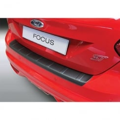 RBP757 rear bumper guard Ford Focus/ST 5 door hatch Feb 2011 to July 2014 (ribbed)