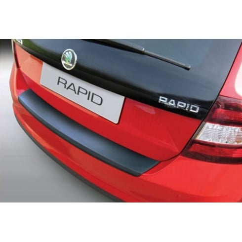 rear bumper protector for Skoda Rapid Spaceback from Oct 2013>