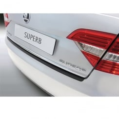 Rear bumper protector for Skoda Superb 4 dr Saloon June 2013 to Aug 2015