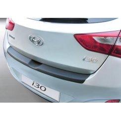 rear guard bumper protector Hyundai i30 5 door 3.2012>