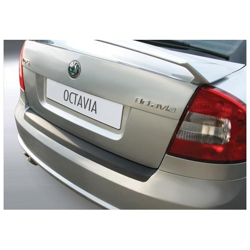 rear guard bumper protector Skoda Octavia III VRS 2009 to 2013 Black