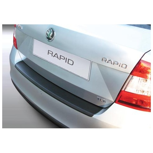 rear guard bumper protector Skoda Rapid 4 door Nov 2012 >