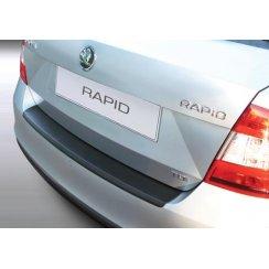 rear guard bumper protector Skoda Rapid 4 door Nov 2012 >